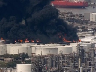 Houston-area chemical facility fire continues to rage