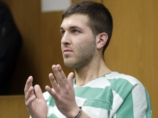 Frank Cali murder suspect in court with Trump slogans written on hand
