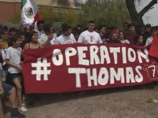 Over 100 Arizona students march for detained classmate