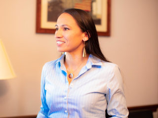 Trailblazing out lawmaker Sharice Davids takes on inequality