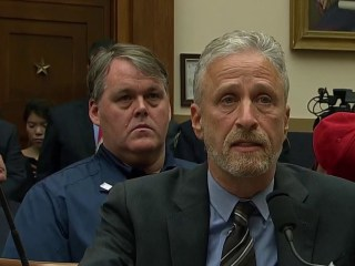 Jon Stewart joins 9/11 first responders, family members on Capitol Hill to fight for victim compensation