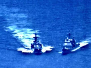 Russian warship nearly collides with U.S. cruiser in 'unsafe maneuver'