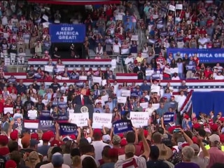 President Trump distances himself from 'send her back' chants he inspired