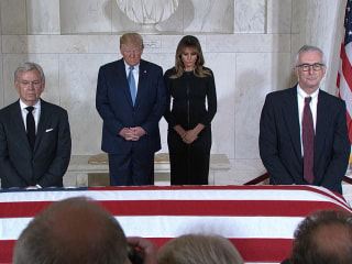 Trump, first lady pay respects to Supreme Court Justice John Paul Stevens