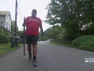 Man honors fellow veterans with walk across America