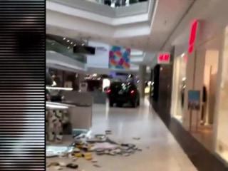 Man drives SUV through main hallway of Chicago suburb shopping mall