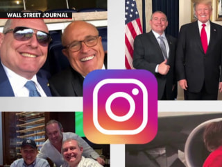 The Instagram page of an indicted Giuliani associate
