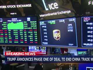 Trump announces 'phase one' of China trade deal