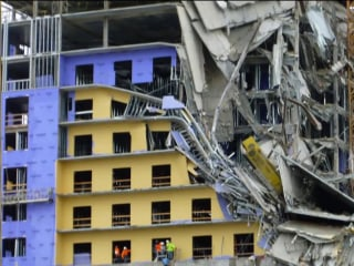 Investigation underway after deadly partial collapse at New Orleans hotel construction site
