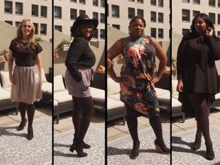 Watch 5 women try on the Amazon tights you will want to wear all winter long