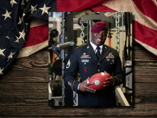 Army veteran becomes oldest college football player