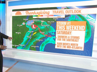 2 storms could disrupt Thanksgiving holiday travel for millions