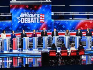 Democratic candidates take aim at Trump in Atlanta debate