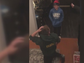 Watch: Brothers who lost their dad surprised by NFL's Matt Stafford