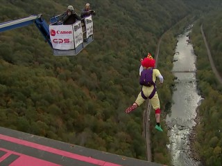 Daredevils jump 800+ feet on West Virginia 'holiday'