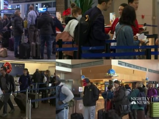 Storms on both coasts bring holiday travel troubles