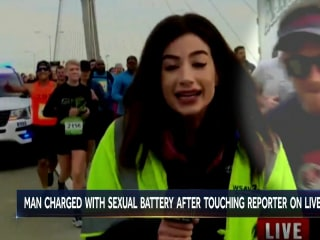 Runner accused of groping reporter during live TV broadcast charged with sexual battery