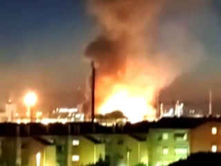 Deadly explosion at chemical plant sparks huge blaze in Spain