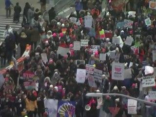 Women's Marches take place across U.S. as 2020 Democratic race heats up