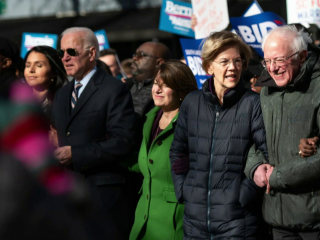 Democratic candidates honor MLK day together in South Carolina