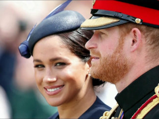 Queen reveals details of Harry and Meghan's split from royal life