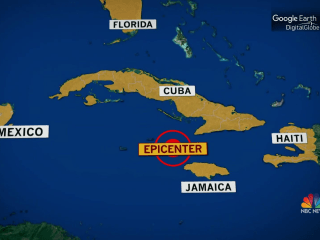 Powerful earthquake strikes the Caribbean