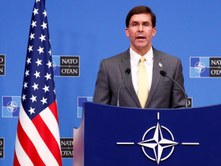 U.S. Def. Sec. Esper announces 'progress' in Taliban peace talks