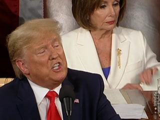 Video shows Nancy Pelosi ripping Trump's speech in preparation for tearing it in half