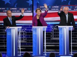 Sanders, Bloomberg, Biden spar over democratic socialism