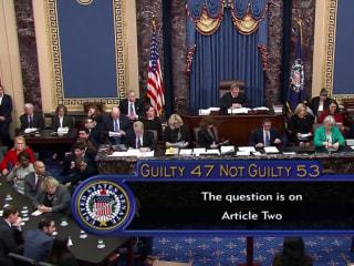 Senators find Trump 'not guilty' of obstruction of Congress impeachment article