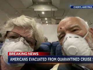 Americans evacuated from quarantined cruise ship off Japan