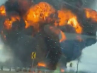 Woman who saved tanker truck driver after massive explosion speaks out
