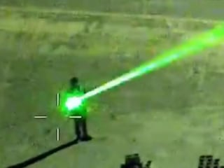 Authorities warn of dangers of pointing lasers at aircraft