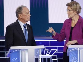 Watch Warren attack 'arrogant billionaire' Bloomberg over treatment of women