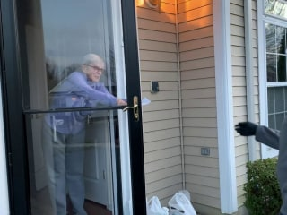 Delivery workers and customers take care of each other during crisis