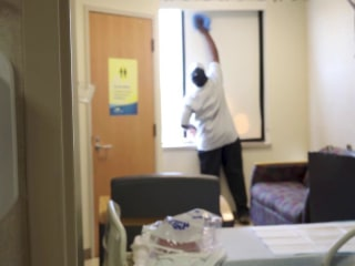 Cleaning staff working to contain coronavirus lack protective gear