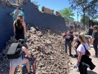 After nights of protest, volunteers help clean up cities