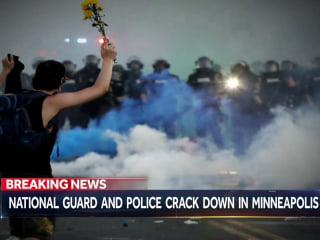 Minnesota National Guard and police clash with protesters