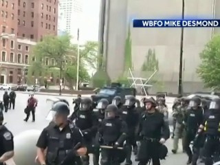 Buffalo officers charged with assault as outrage grows over clashes with protesters