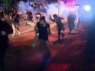 NYPD officers shot, stabbed during mostly peaceful night of protests