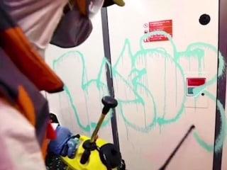 'If you don't mask, you don't get': Banksy hits London subway with coronavirus-themed graffiti