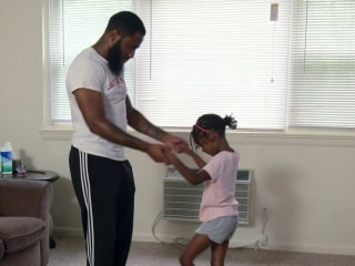 Father-daughter ballet class goes virtual