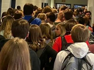 Nine people test positive for coronavirus at Georgia school captured in viral images