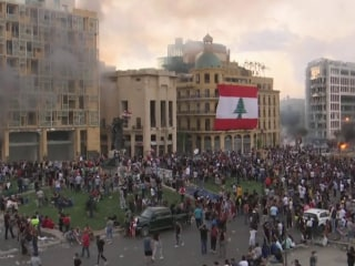 Demonstrators and security forces clash in Beirut