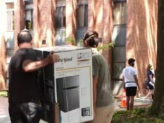 College students returning to campus with new coronavirus precautions