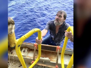 New details emerge about ordeal of man rescued from capsized boat