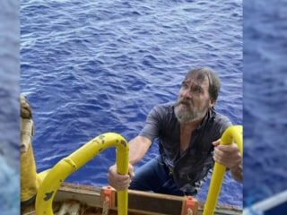 Rescued boater found clinging to capsized boat speaks out about experience
