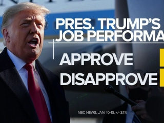 Trump's approval rating holding steady at 43 percent, with 55 percent disapproving