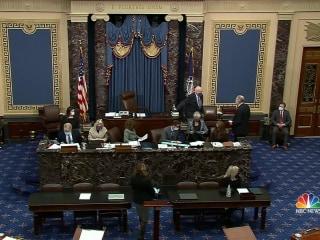 Senators sworn in for Trump's second impeachment trial