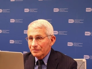 Dr. Fauci says we're in a race against time to beat Covid variants